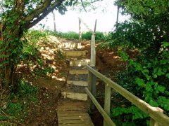Dunsfold steps restored, May 2008